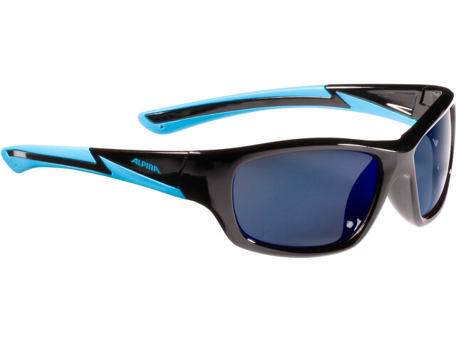 Alpina Flexxy Youth Glasses Kinder black-cyan
